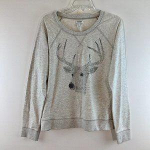 Old Navy deer print long sleeves sweat shirt
